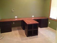 office countertops. diy office with tshaped countertop and builtin cabinets countertops