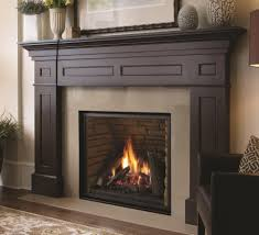 liberty l965e direct vent gas fireplace with castle stone panels