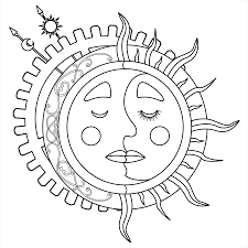 Small Picture Sun And Moon Coloring Coloring Coloring Pages