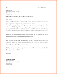 sample resignation letter teacher awesome collection of ideas of printable sample resignation letter