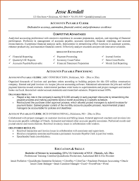 Accounts Clerk Resume Accounting Clerk Resume With No Experience Luxury Accounts Payable