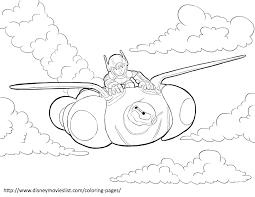Disneys Big Hero 6hiro And Baymax Flying Coloring Page Big Hero 6