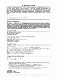 Tech Resume Classy Sample Desktop Support Resume Fresh Desktop Support Technician