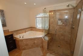 corner soaking tub with shower. corner tub \u0026 shower seat master bathroom reconfiguration yorba linda traditional-bathroom soaking with d