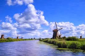 windmills painting windmills in holland by dominic piperata