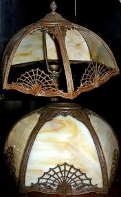 antique shade repair before and after slag lamp repair