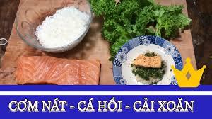 Cách Nấu Cơm Nát cho Bé - Cơm Cá Hồi Rau Cải Xoăn / Cải Kale - YouTube