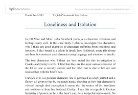 tips for writing an effective loneliness in of mice and men essay if one theme can be thought of as defining the plot and symbolism of of mice and men that theme is loneliness