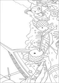 rainbow fish coloring pages in shipwreck park
