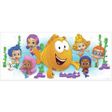 >bubble guppies from buy buy baby bubble guppies character burst peel and stick giant wall decal from york wallcoverings