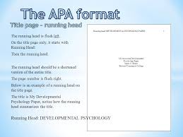 sample apa format title page the apa format title page ppt video online download