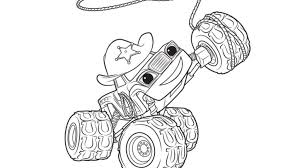 Blaze And The Monster Machines Coloring Book Nick Jr Coloring Page