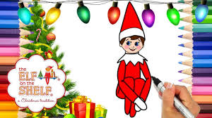 Coloring Elf On The Shelf Printable Coloring Page Elf On The Shelf