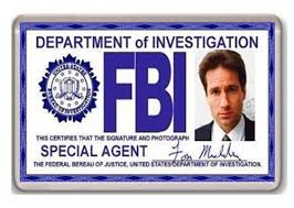 files Cosplay Fbi Magnet X Fox Iman Nevera Card Fridge Id Mulder RRXfv