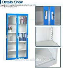 decoration refreshing sliding glass door cabinet metal cupboard steel file display showcase lock