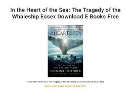 Essex Tide Chart 2017 In The Heart Of The Sea The Tragedy Of The Whaleship Essex
