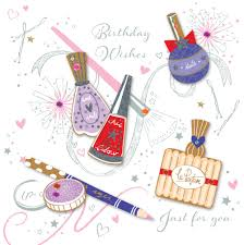 y make up birthday wishes greeting card