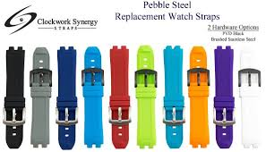 Pebble Steel Replacement <b>Silicone</b> Watch <b>Band Strap</b>