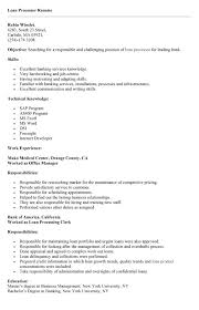 ... entry level loan processor resume sample loan processor resume