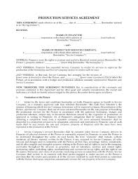 Production Services Agreement For Motion Picture | Legal Forms And ...
