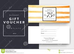 Gift Certificate Designer Trendy Abstract Gift Voucher Card Templates Stock Vector