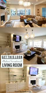 Transitional living rooms 15 relaxed transitional living Unwind Modern Transitional Living Room Get This Look From Remodelaholic Home Stratosphere Remodelaholic Get This Look Modern Transitional Style Living Room