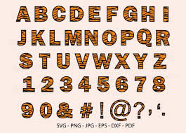 Fonts hand lettering calligraphy resources. 1 Tiger Skin Font Animal Alphabet Svg Designs Graphics