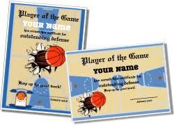 Basketball Certificate Template Best 10 Templates Basketball Mvp