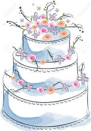 Wedding Cake Clipart Cartoon Pencil And In Color Wedding Cake Cartoon Wedding Cake