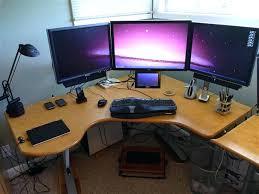 computer built into desk plans envious home computer setups custom gaming computer desk plans