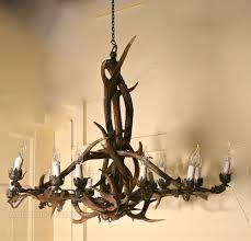 19 c black forest stag antler hanging chandelier