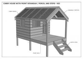 house plan 12 free playhouse plans the kids will love diy cubby house plans house
