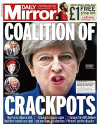 Image result for Theresa May/DUP alliance cartoons
