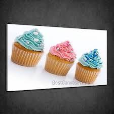 image is loading blue aqua pink cupcakes kitchen design box canvas  on cupcake canvas print wall art with blue aqua pink cupcakes kitchen design box canvas print wall art picture