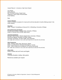 Adorable Sample High School Resume College Application For How To