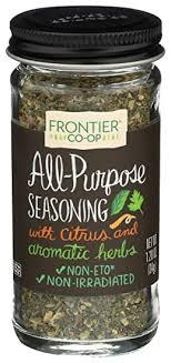 Frontier <b>All Purpose Seasoning Salt</b>-<b>Free</b> Blend, 1.2 Ounces ...