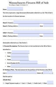 bill of sale template ma free massachusetts firearm gun bill of sale form pdf word doc