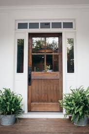 exterior house doors. Exterior Doors | A Farm Style Front Door, Includes Two Healthy Ferns On The Porch House