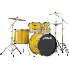 yamaha drum set. drum kit yamaha rydeen 22 mellow yellow bundle (3) set