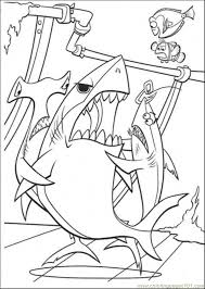 Small Picture Three Sharks Coloring Page Free Finding Nemo Coloring Pages