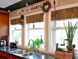 Decorating Kitchen Windows No Curtain Window Treatments Decorating And Sew Curtains