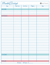 Free Monthly Expense Spreadsheet Budget Planner Template Nzet ...
