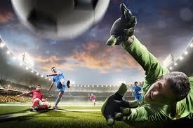 Fotobehang Voetbal Fotobehang Voetballers In Actie