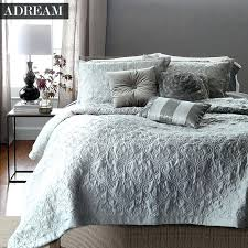 Bed Spreads And Quilts – co-nnect.me & ... Adream Faux Silk Cotton Bedspread Coverlet Quilt Grey Quilted Bedspreads  White Stitching Comforter Queen King Bed ... Adamdwight.com