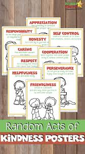 Free Acts Of Kindness Posters 52kindweeks Teaching Ideas