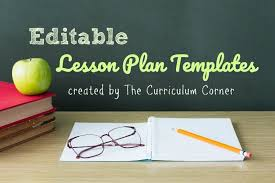 Lesson Plans Formats Elementary Lesson Plan Templates The Curriculum Corner 123