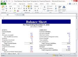 finance report templates free balance sheet excel template for financial reports