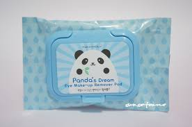 tony moly panda s dream eye make up remover pad