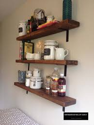 Rustic Kitchen Shelving Diy Rustic Kitchen Shelves Interiors By Kelley Lively