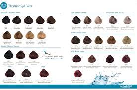 Thermae Spa Color Chart Alfaparf Thermae Spa Color Chart Cores Tabela De Cores E